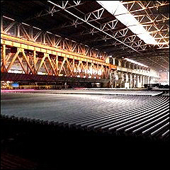 producing steel rail