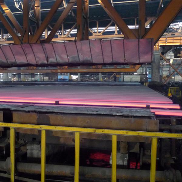 Rolling steel rail