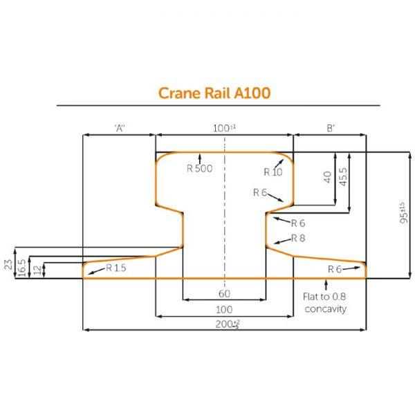 Profile of A100 Crane rail