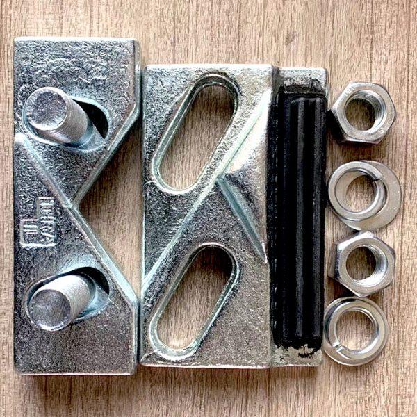 weldable rail clamp